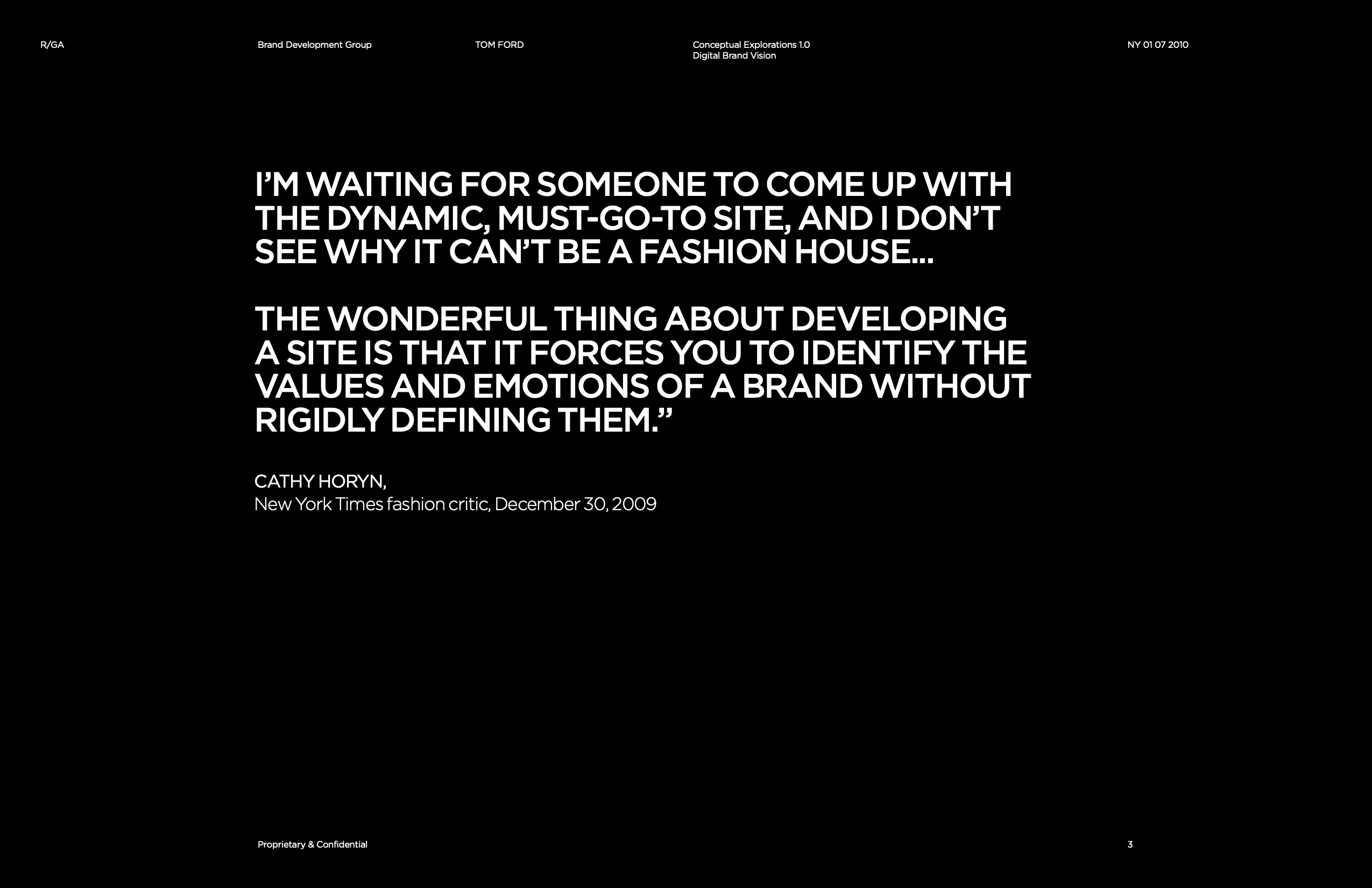 Tom Ford Brand Interface / Disclosure