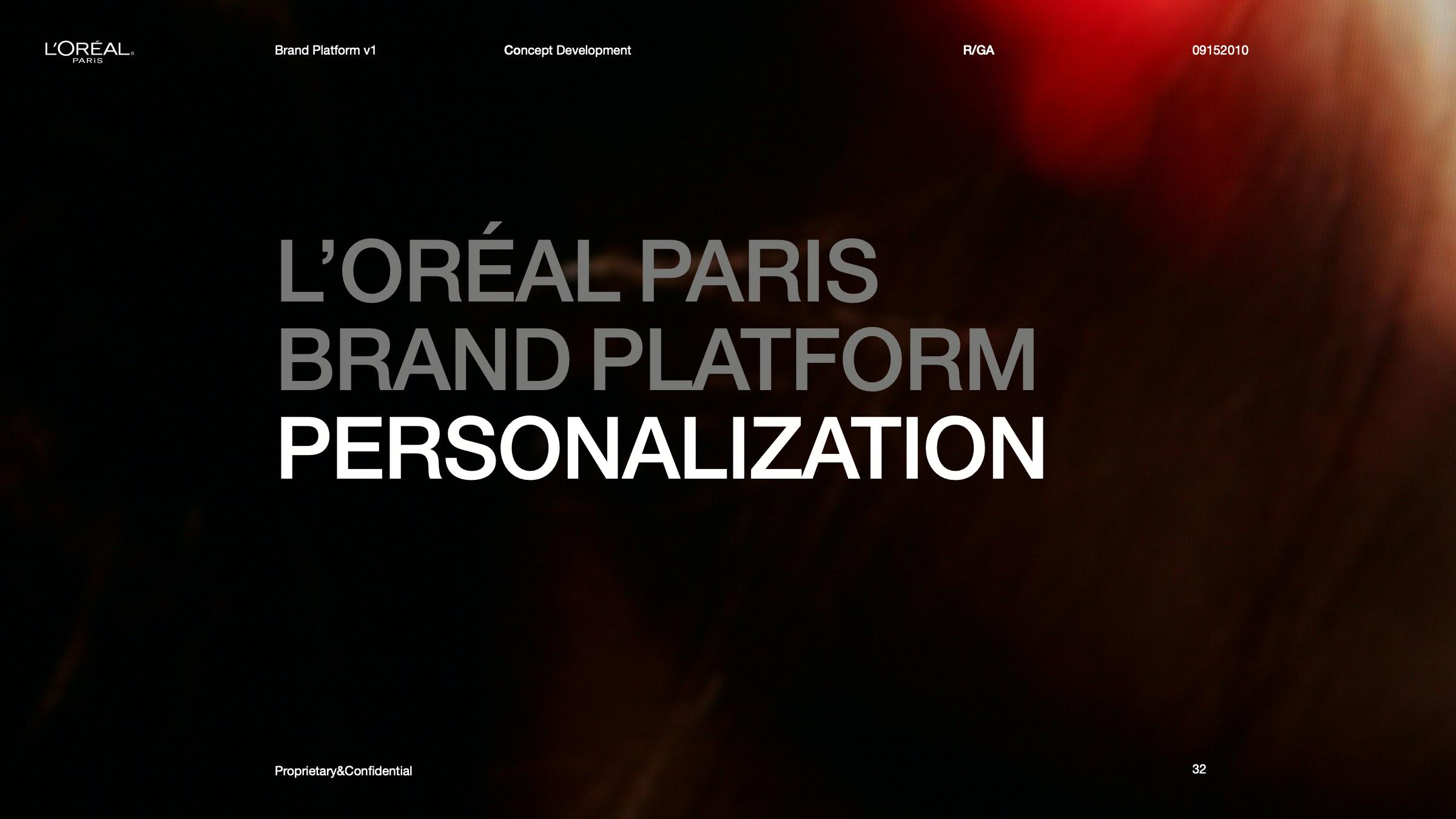 L'Oréal Brand Interface