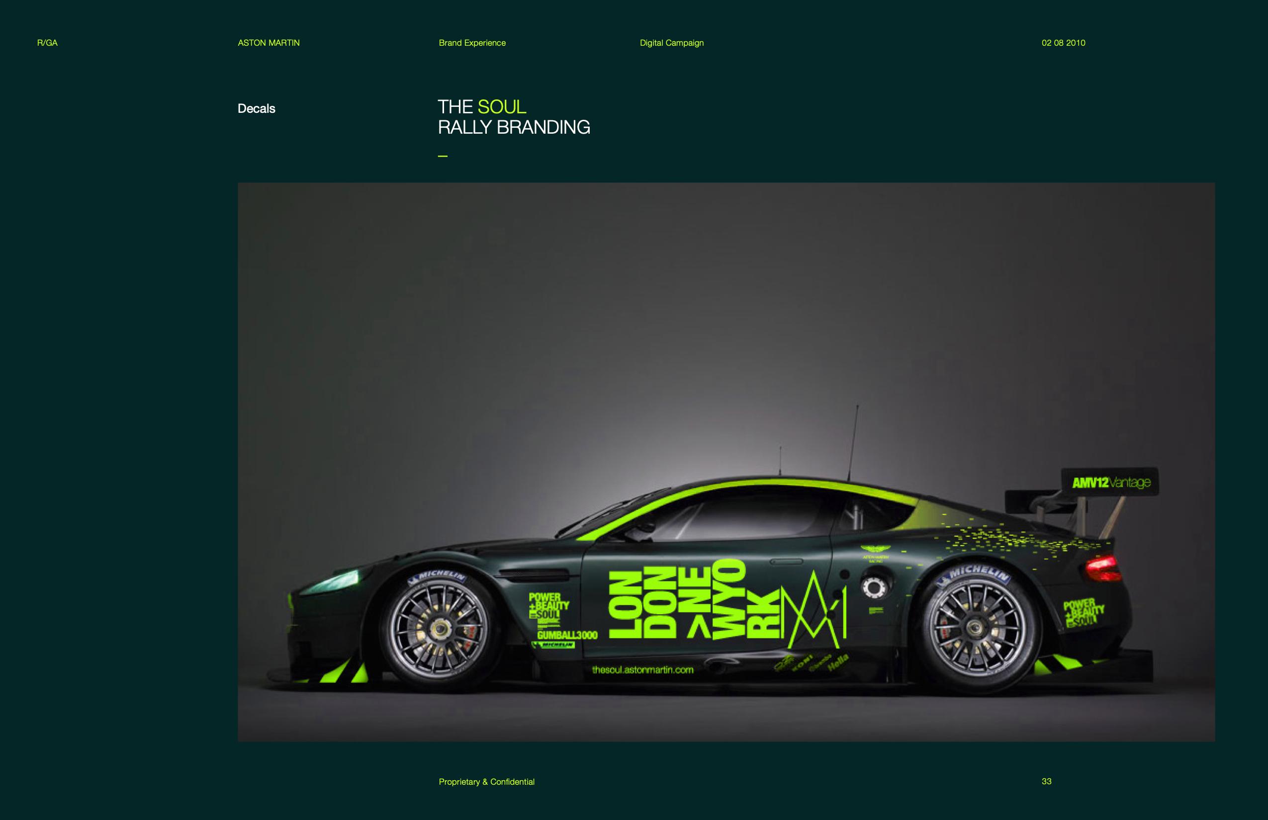 Aston Martin Brand Interface